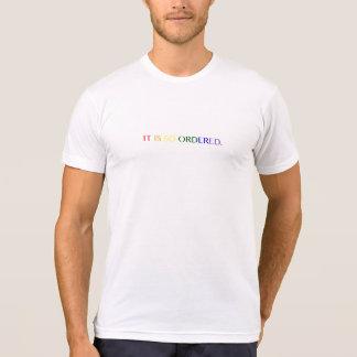 Camiseta É assim que pedido - o arco-íris (M)