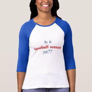 Camiseta É, basebol estação, contudo??