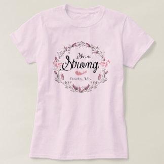 Camiseta É citações fortes do verso da bíblia dos provérbio
