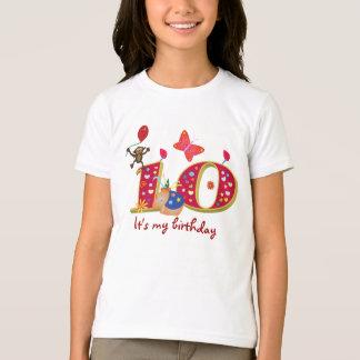 Camiseta É meu 10o aniversário