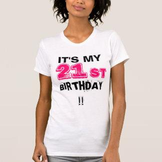 Camiseta É meu aniversário de 21 anos!