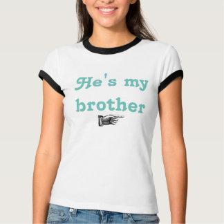Camiseta É meu t-shirt do irmão