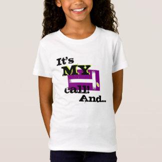 Camiseta É minha chamada! pelo tênis do lago