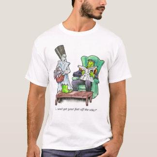 """Camiseta """"… e obtenha seus pés fora da mesa! """""""