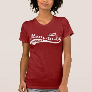Camiseta É personalizado Mamã-à-o vermelho de tijolo