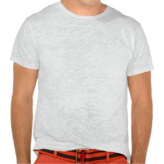Camiseta e presentes alaranjados e azuis do basque