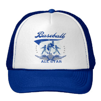 Camiseta e presentes azuis de All Star do basebol Boné
