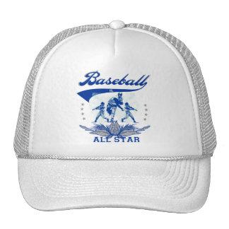Camiseta e presentes azuis de All Star do basebol Bone