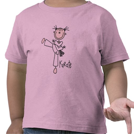 Camiseta e presentes da menina do karaté