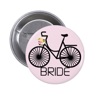 Camiseta e presentes da noiva da bicicleta botons