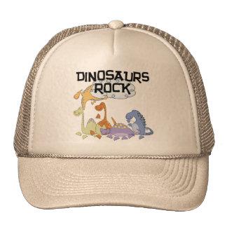 Camiseta e presentes da rocha dos dinossauros boné