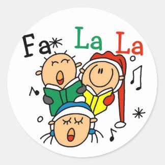 Camiseta e presentes das canções de natal do Natal Adesivo Redondo