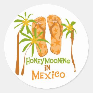 Camiseta e presentes de México da lua de mel Adesivo