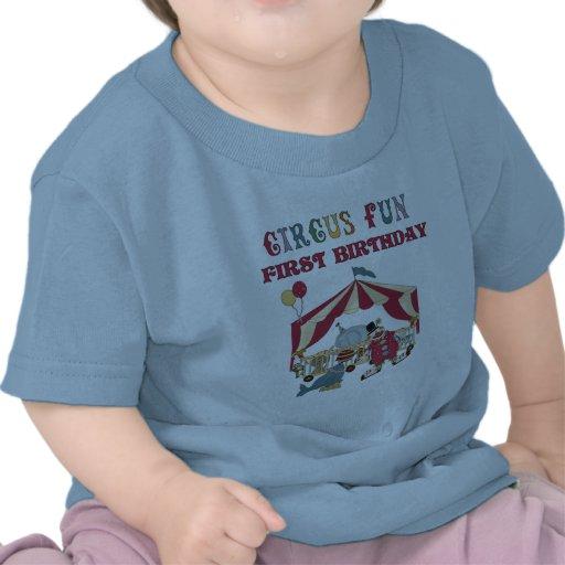 Camiseta e presentes do aniversário do circo prime