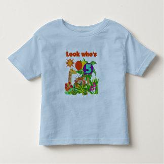 Camiseta e presentes do aniversário do safari 5os