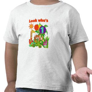 Camiseta e presentes do aniversário do safari prim