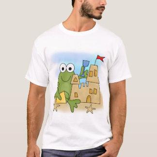 Camiseta e presentes do castelo da areia do sapo