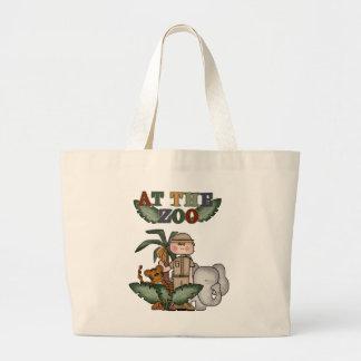 Camiseta e presentes do depositário de jardim zool bolsa