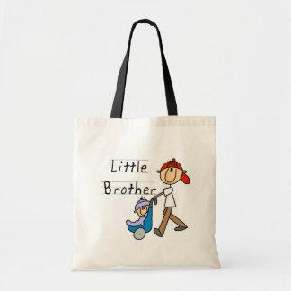Camiseta e presentes do irmão mais novo da carruag sacola tote budget