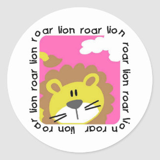 Camiseta e presentes do rugido do leão adesivo