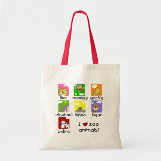 Camiseta e presentes dos animais do jardim zoológi bolsas
