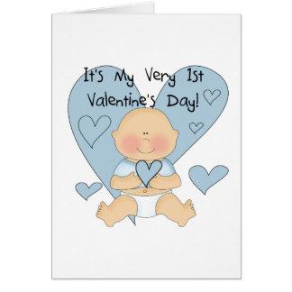 Camiseta e presentes dos namorados do menino azul cartão