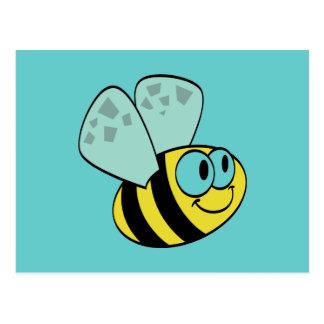 Camiseta e presentes felizes amarelos da abelha cartão postal
