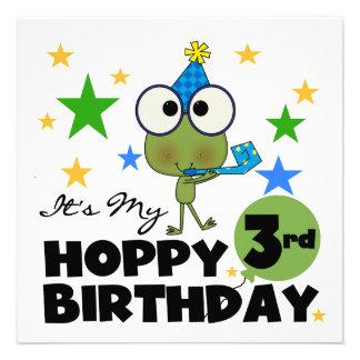 Camiseta e presentes Hoppy do aniversário de 3 ano Convite Personalizado