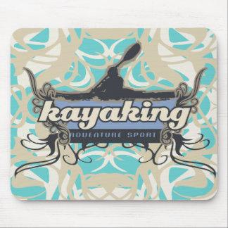 Camiseta e presentes Kayaking do esporte da aventu Mousepad
