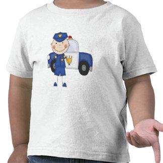 Camiseta e presentes masculinos do agente da políc