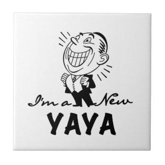Camiseta e presentes novos de sorriso de Yaya Azulejo Quadrado Pequeno