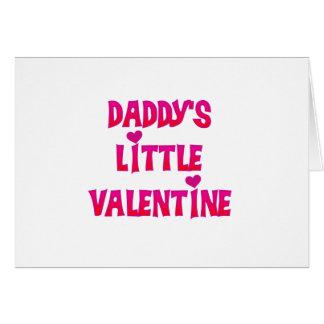 Camiseta e presentes pequenos dos namorados do pai cartão comemorativo