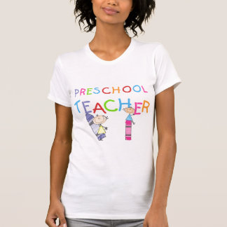Camiseta e presentes prées-escolar do professor
