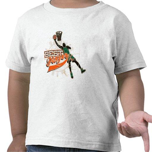 Camiseta e presentes verdes e alaranjados do basqu