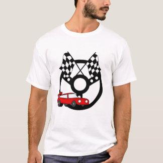 Camiseta e presentes vermelhos do carro de