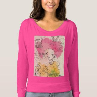 Camiseta É tempo do pêssego! Camisola no rosa