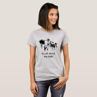 Camiseta É toda sobre os miúdos! T-shirt da cabra