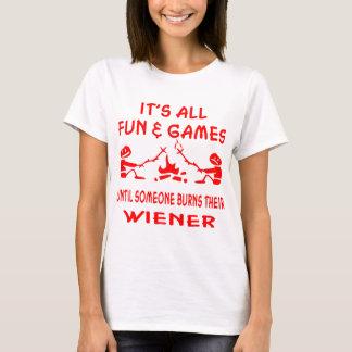 Camiseta É todo o divertimento & jogos até que alguém se