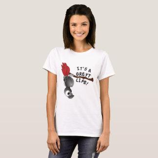 Camiseta É um papagaio do cinza africano da vida de Greyt