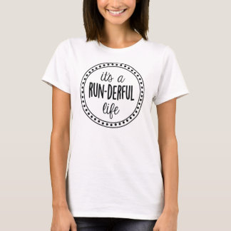 Camiseta É um T do logotipo da vida do Funcionamento-derful