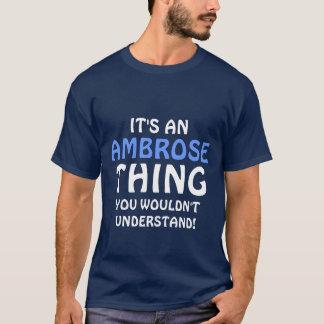 Camiseta É uma coisa que de Ambrose você não compreenderia