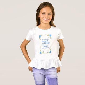 Camiseta É vestida com força e dignidade