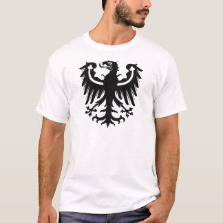 Camiseta Eagle preto prussiano do leste