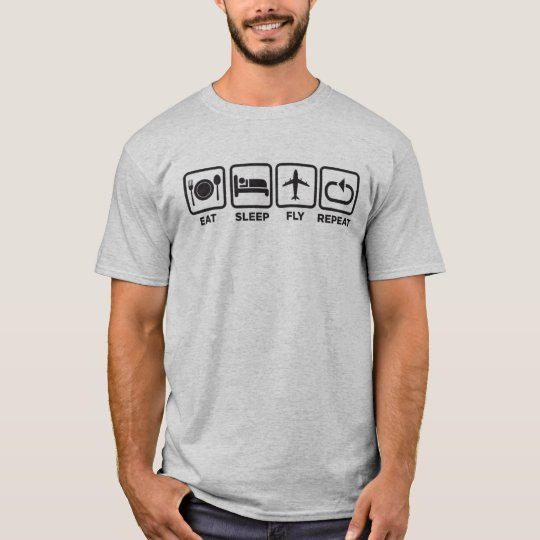 Camiseta | EAT, SLEEP, FLY, REPEAT