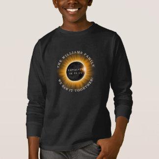 Camiseta Eclipse solar da totalidade da família