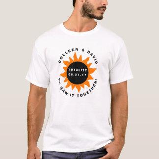 Camiseta Eclipse solar da totalidade dos casais