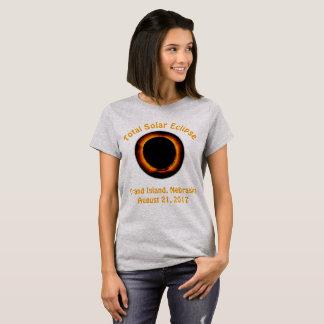 Camiseta Eclipse solar total (ilha grande, Nebraska)