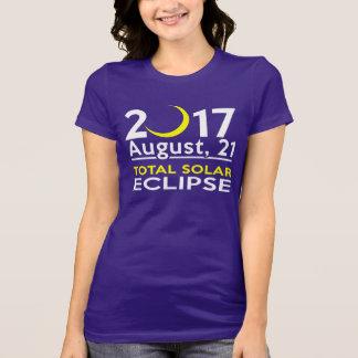 Camiseta Eclipse solar total, o 21 de agosto de 2017