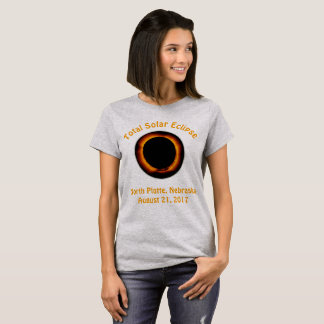 Camiseta Eclipse solar total (Platte norte, Nebraska)