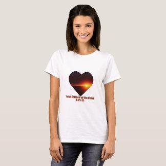 Camiseta Eclipse total do t-shirt 8-21-17 do coração